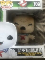 Ghostbusters Stay Puft Marshmallow 6 Funko Pop Burnt 109 Hot Topic Exclusive