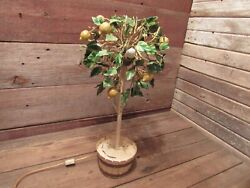 Vintage Rare Ardalt Metal With Lights Electric Lemon Tree Made In Italy