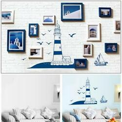 Lighthouse Seagull Sailboat PVC Art Wall Stickers Removable Living Room MP