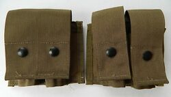 Usgi/usmc Military Molle Ii 40mm Grenade Double Mag Pouch Coyote Tan, Lot Of 2