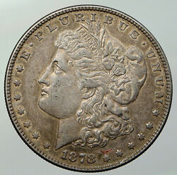 1878 P United States Of America Eagle Old Silver Morgan Us Dollar Coin I92935