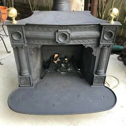 Franklin Style Antique Cast Iron Wood Burning Stove