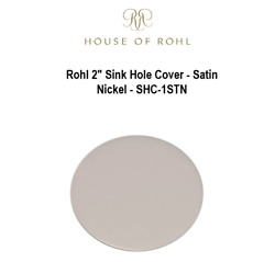 New Rohl 2 Sink Hole Cover - Satin Nickel - Shc-1stn