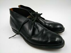Vintage Menand039s French Shriner Dress Shoes Size 10 D Neolite Good Year Heel Euc