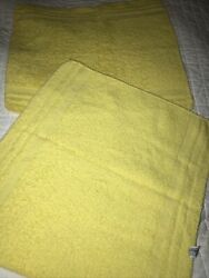 Vintage Pair Of Cannon Yellow Washcloths Wash Towels Facial Cloth