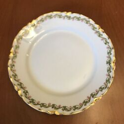 Haviland Limoge Schleiger 98 Clover Five Bread And Butter Plates Antique China