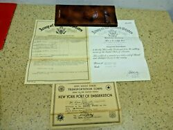 Honorable Discharge Embarkation Paperseparation Qualification- 1945ww11