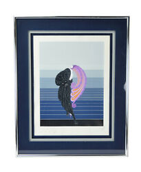 Erte Beauty And The Beast Art Deco Serigraph Double Signed Personal Dedication