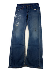 527 Mens Low Rise Jeans Size 32x32 Bootcut Distressed Painters