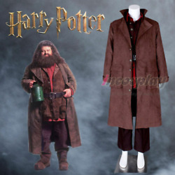 Hagrid Giant Wizard School Adult Costume Cosplay Outfits Jacket Set