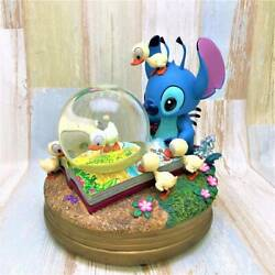Used Disney Lilo And Stitch The Ugly Duckling Snow Globe Music Box Tdl Only 100