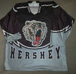 Vtg Hershey Bears Authentic Pre-game Warm Up Jersey Kebec Sz 52 2xl