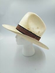 Vintage Anheuser-busch Clydesdale Collection Straw Hat Size Xl Sun Cowboy Euc