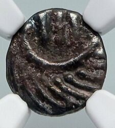 710-760ad Anglo-saxon Frisia Continental Silver Sceat Coin Old Rare Ngc I90711