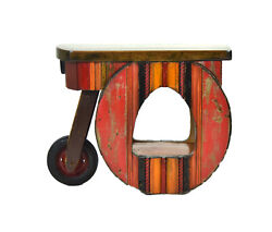 Floyd Gompf Sculptural Salvaged Wood Found Object End Table