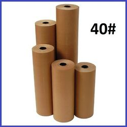 40 Wt Kraft Brown 900and039 Roll Shipping Wrapping Void Fill Paper - 10 Sizes Avail.