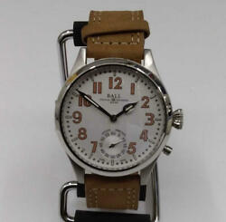 Used Ball Nm 2038d Men's Self-winding Watch With Box Belt Material Leather