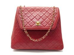 Vintage Sac A Main Timeless Trapeze Bandouliere Cuir Rouge Hand Bag 5500andeuro