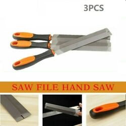 3pcset Saw File Hand Saw For Sharpening Straightening Wood Rasp File Hand Tools