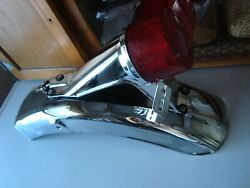 Suzuki Gt380 Chrome Rear Fender And Brake Light Fits 1974 Up The Set As Pictured