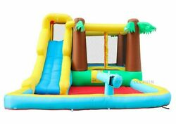 Commercial Inflatable Bounce House Wet Dry Jungle Water Slide Pool With Blower