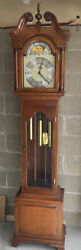Antique Grandfather Clock Colonial Of Zeeland Westminster Moon Face 6011-132