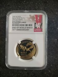 2020 W Gold 25 End Of World War Ii Coin - Free Shipping