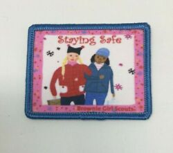 Patch Gsa Girl Scouts Staying Safe Brownie Gs Snowflakes Winter Coats And Hats