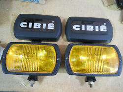 Cibie Series 95i Amber Fog Lamps Pair. Complete W/bulbs And Covers. Genuine, Nos