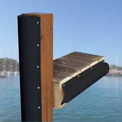 Boat Dock Piling Bumper Curved And Flat - One End Capped 6and039 - Marine Grade Pvc