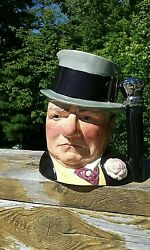 Royal Doulton W.c. Fields Celebrity Collection Large Toby Jug D-6674 Signed