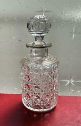 Used Old Baccarat Diamond Pieley Bottle Perfume Bottle H16cm With A Lid