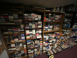 3500+ Vhs Movie Tape Lot, Good Condition, For Your Vintage Vcr Collection.