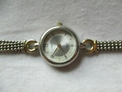 Carriage By Timex Wristwatch Gold And Silver Tone Band Round Face