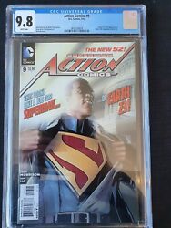Action Comics 9 New 52 Cgc 9.8 Hot Key First Appearance Of Calvin Ellis Movie