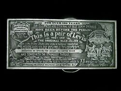 Ue03173 Cool Vintage 1976 This Is A Pair Of Levi's Advertisement Belt Buckle