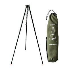 Adjustable Grill Camping Tripod Cooking For Bbq Hanging Pot Fishing Hiking