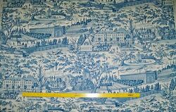 Brunschwig And Fils French Country Villages Toile Fabric 10 Yards Blue White