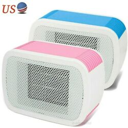 500w Portable Mini Space Heater Electric Ceramic Heating Desk Office Thermostat