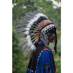 Indian Hat-indian Headdress Small Pearl Fur-us Stocked