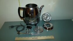 Vintage General Electric Ge Electric Coffee Percolator 68p40 Pot Belly 9 Cup