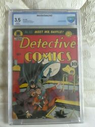Detective Comics 63 Cgccbcs 3.5 Cream - Ow Pages Fred Ray Jerry Robinson Cover