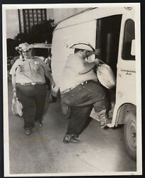 Photo By Tose Barrea Fat Sheriff Texas 1966 Vintage Foto Silver Print Us Skurril