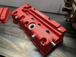 K20 K24 Rsx Civic Si Valve Cover Ported Welded 10an Bung Type-r Custom