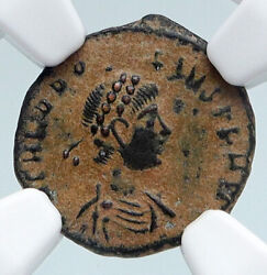 Theodosius I The Great 388ad Old Ancient Roman Coin Victory Angel Ngc I89501