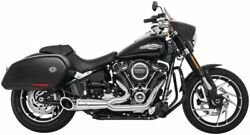 Turnout 2-into-1 Exhaust For Harley-davidson Fxbb Br Fb Lr 2018-2020 Chrome