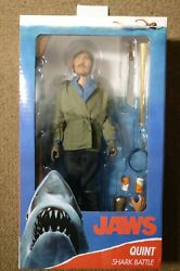 Neca Jaws Quint Clothed Shark Battle 8 Action Figure New In Hand
