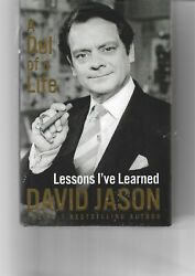 David Jason Autograph-del Of A Life-only Fools And Horses-signed Hardback Book