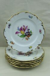 Meissen Meissen Oven And Porcelain Manufactory Set Of Six Cake Plates 1882-1929