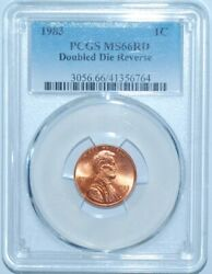 1983 Pcgs Ms66rd Fs-801 Red Ddr Early Die State Doubled Die Reverse Lincoln Cent